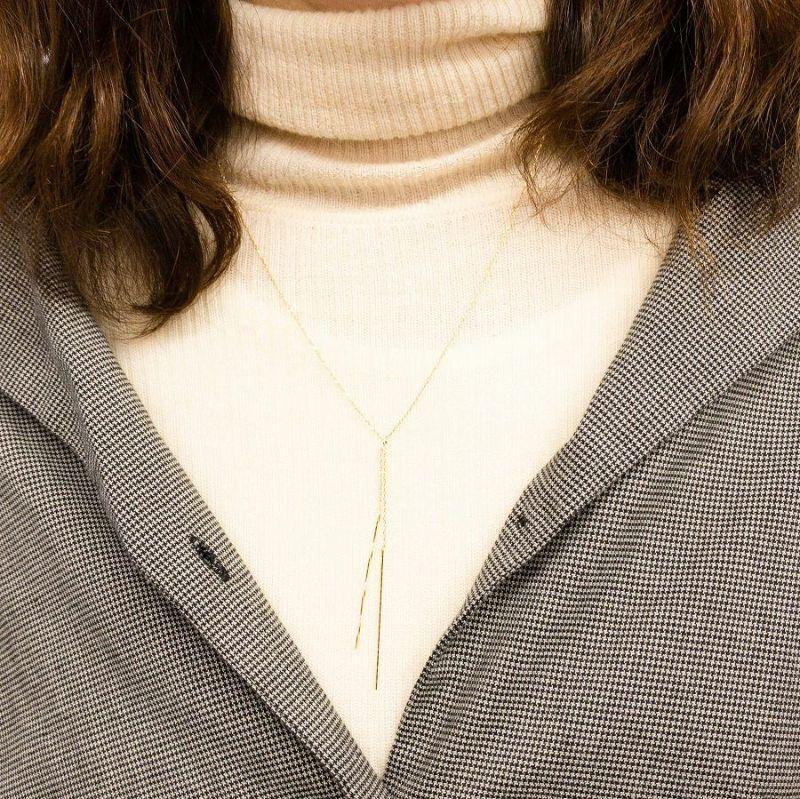 2メタルバーネックレスの着用画像
