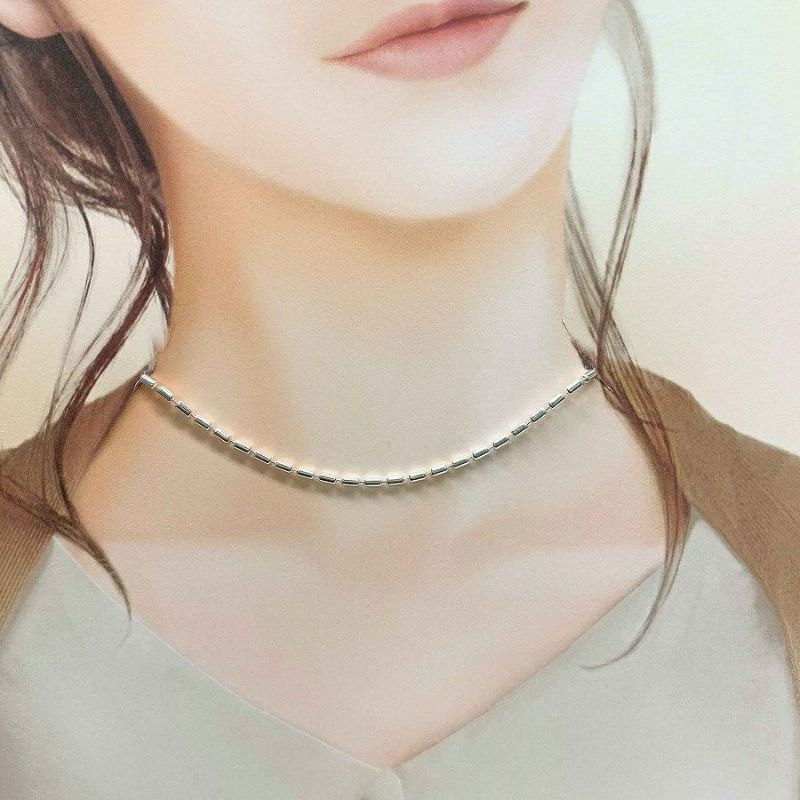 シルバー925ネックレスの着用画像