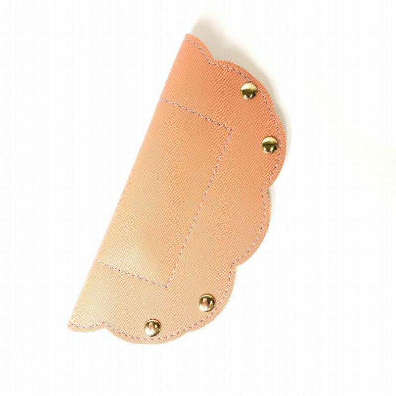 ピンクのスエード調2WAYボタンアクセサリートレー